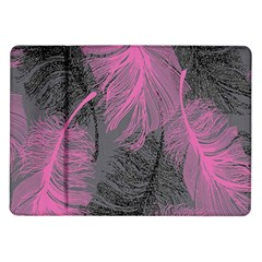 Feathers Quill Pink Grey Samsung Galaxy Tab 10 1  P7500 Flip Case by Mariart