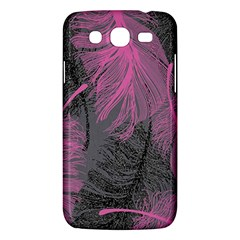 Feathers Quill Pink Grey Samsung Galaxy Mega 5 8 I9152 Hardshell Case  by Mariart