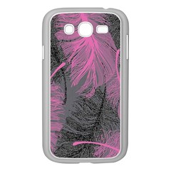 Feathers Quill Pink Grey Samsung Galaxy Grand Duos I9082 Case (white)