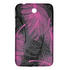 Feathers Quill Pink Grey Samsung Galaxy Tab 3 (7 ) P3200 Hardshell Case  by Mariart