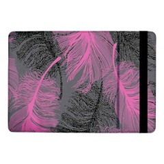 Feathers Quill Pink Grey Samsung Galaxy Tab Pro 10 1  Flip Case by Mariart