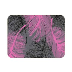 Feathers Quill Pink Grey Double Sided Flano Blanket (mini)
