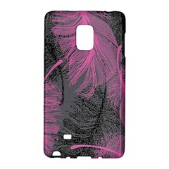 Feathers Quill Pink Grey Galaxy Note Edge by Mariart