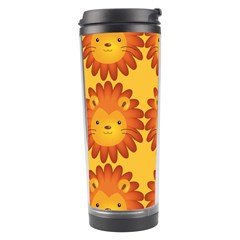Cute Lion Face Orange Yellow Animals Travel Tumbler by Mariart