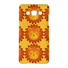 Cute Lion Face Orange Yellow Animals Samsung Galaxy A5 Hardshell Case  by Mariart