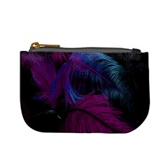 Feathers Quill Pink Black Blue Mini Coin Purses