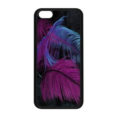 Feathers Quill Pink Black Blue Apple Iphone 5c Seamless Case (black) by Mariart