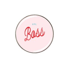 Girl Boss Pink Red Blue Sexy Hat Clip Ball Marker by Mariart