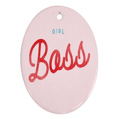 Girl Boss Pink Red Blue Sexy Oval Ornament (two Sides) by Mariart