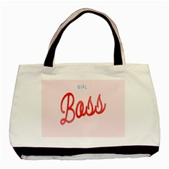 Girl Boss Pink Red Blue Sexy Basic Tote Bag (two Sides) by Mariart