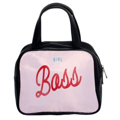Girl Boss Pink Red Blue Sexy Classic Handbags (2 Sides) by Mariart