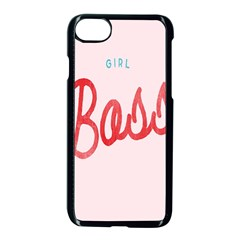 Girl Boss Pink Red Blue Sexy Apple Iphone 7 Seamless Case (black) by Mariart