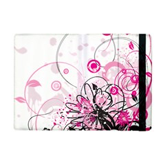 Wreaths Frame Flower Floral Pink Black Apple Ipad Mini Flip Case by Mariart