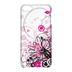 Wreaths Frame Flower Floral Pink Black Apple Ipod Touch 5 Hardshell Case With Stand by Mariart