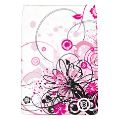 Wreaths Frame Flower Floral Pink Black Flap Covers (s)  by Mariart