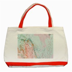 Geode Crystal Pink Blue Classic Tote Bag (red) by Mariart