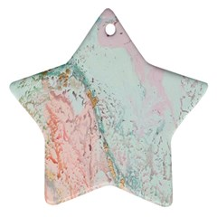 Geode Crystal Pink Blue Star Ornament (two Sides) by Mariart