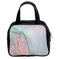 Geode Crystal Pink Blue Classic Handbags (2 Sides) by Mariart