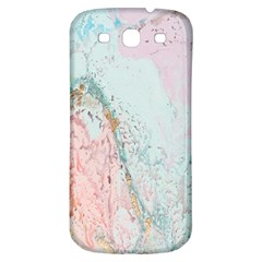 Geode Crystal Pink Blue Samsung Galaxy S3 S Iii Classic Hardshell Back Case by Mariart