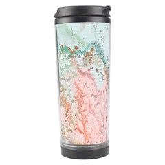 Geode Crystal Pink Blue Travel Tumbler by Mariart