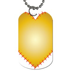 Heart Rhythm Gold Red Dog Tag (two Sides) by Mariart