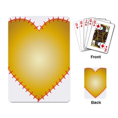 Heart Rhythm Gold Red Playing Card by Mariart