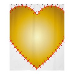 Heart Rhythm Gold Red Shower Curtain 60  X 72  (medium)  by Mariart