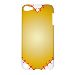 Heart Rhythm Gold Red Apple Ipod Touch 5 Hardshell Case by Mariart