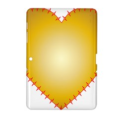 Heart Rhythm Gold Red Samsung Galaxy Tab 2 (10 1 ) P5100 Hardshell Case  by Mariart