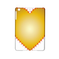 Heart Rhythm Gold Red Ipad Mini 2 Hardshell Cases by Mariart