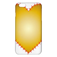 Heart Rhythm Gold Red Iphone 6 Plus/6s Plus Tpu Case by Mariart