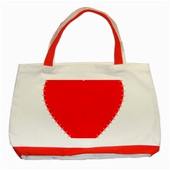 Heart Rhythm Inner Red Classic Tote Bag (red) by Mariart