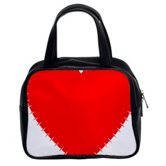 Heart Rhythm Inner Red Classic Handbags (2 Sides) by Mariart