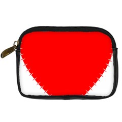 Heart Rhythm Inner Red Digital Camera Cases by Mariart