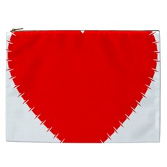 Heart Rhythm Inner Red Cosmetic Bag (xxl)  by Mariart