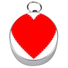 Heart Rhythm Inner Red Silver Compasses by Mariart