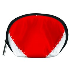 Heart Rhythm Inner Red Accessory Pouches (medium)  by Mariart