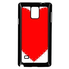 Heart Rhythm Inner Red Samsung Galaxy Note 4 Case (black) by Mariart