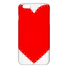 Heart Rhythm Inner Red Iphone 6 Plus/6s Plus Tpu Case by Mariart