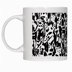 Deskjet Ink Splatter Black Spot White Mugs by Mariart