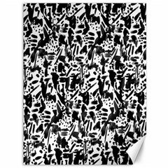 Deskjet Ink Splatter Black Spot Canvas 36  X 48   by Mariart