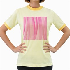 Abstraction Women s Fitted Ringer T Shirts