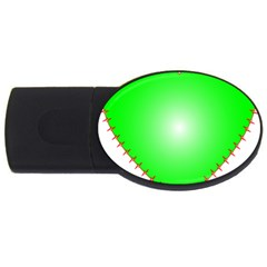 Heart Rhythm Inner Green Red Usb Flash Drive Oval (4 Gb) by Mariart