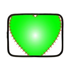 Heart Rhythm Inner Green Red Netbook Case (small)  by Mariart