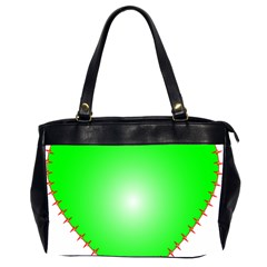 Heart Rhythm Inner Green Red Office Handbags (2 Sides)  by Mariart