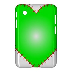 Heart Rhythm Inner Green Red Samsung Galaxy Tab 2 (7 ) P3100 Hardshell Case  by Mariart