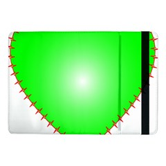Heart Rhythm Inner Green Red Samsung Galaxy Tab Pro 10 1  Flip Case by Mariart