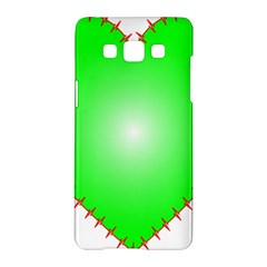 Heart Rhythm Inner Green Red Samsung Galaxy A5 Hardshell Case  by Mariart