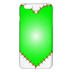 Heart Rhythm Inner Green Red Iphone 6 Plus/6s Plus Tpu Case by Mariart