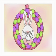 Make An Easter Egg Wreath Rabbit Face Cute Pink White Medium Glasses Cloth (2 Side)